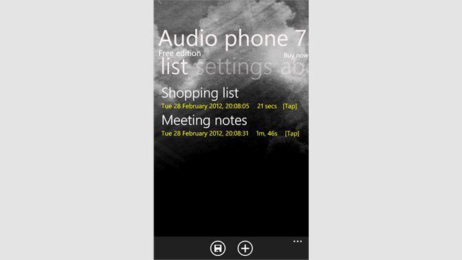 Get Audio phone 7 - Free - Microsoft Store