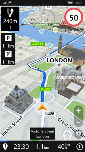 Sygic: GPS Navigation, Maps & POI, Route Directions Screenshot