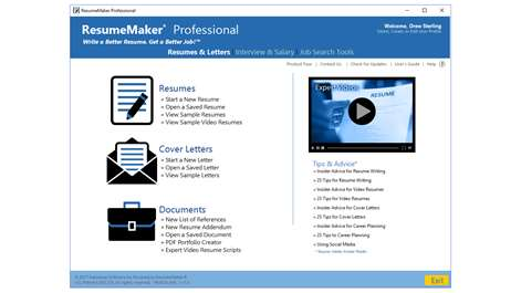 screenshot resumemaker provides everything you need to create a professional resume