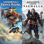 Assassin's Creed® Valhalla + Immortals Fenyx Rising™ Bundle Logo