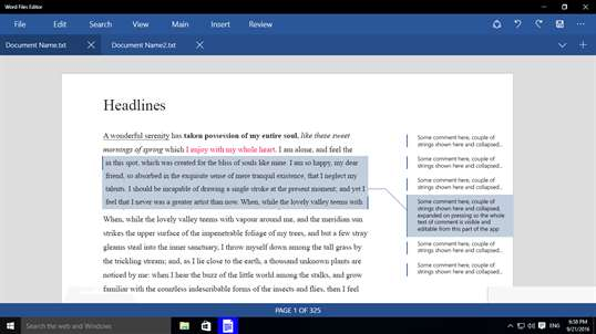 Word Files Editor screenshot 4