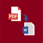 PDF to Word Converter: Extract text from PDF, Image to Word Logo