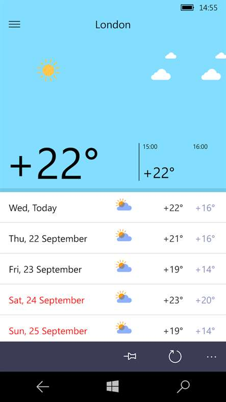 Yandex release their Yandex.Weather app for Windows Phone 1