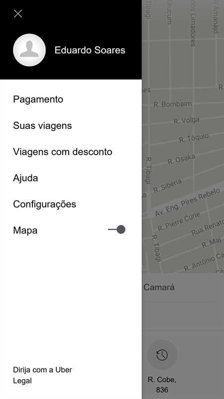 Uber PWA Screenshot