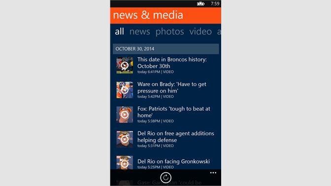 Get Denver Broncos 365 - Microsoft Store