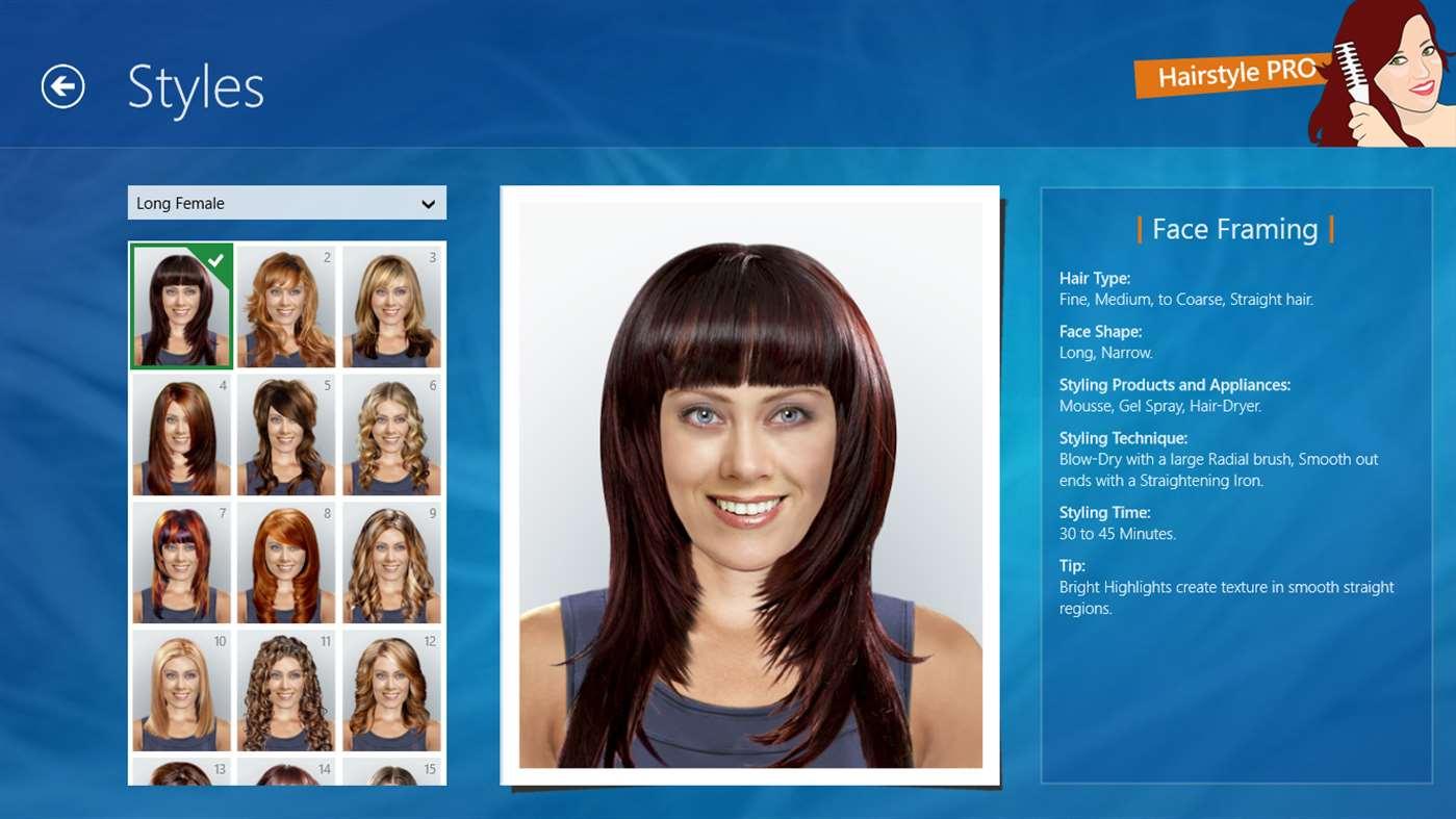 Hairstyle PRO full screenshot