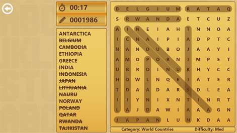 Word Search for HP Screenshots 1