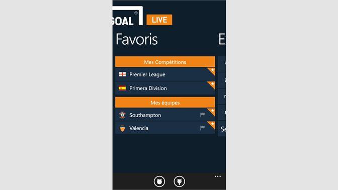 Recevoir Goal Live Scores - Microsoft Store fr-FR a9375abef35c4