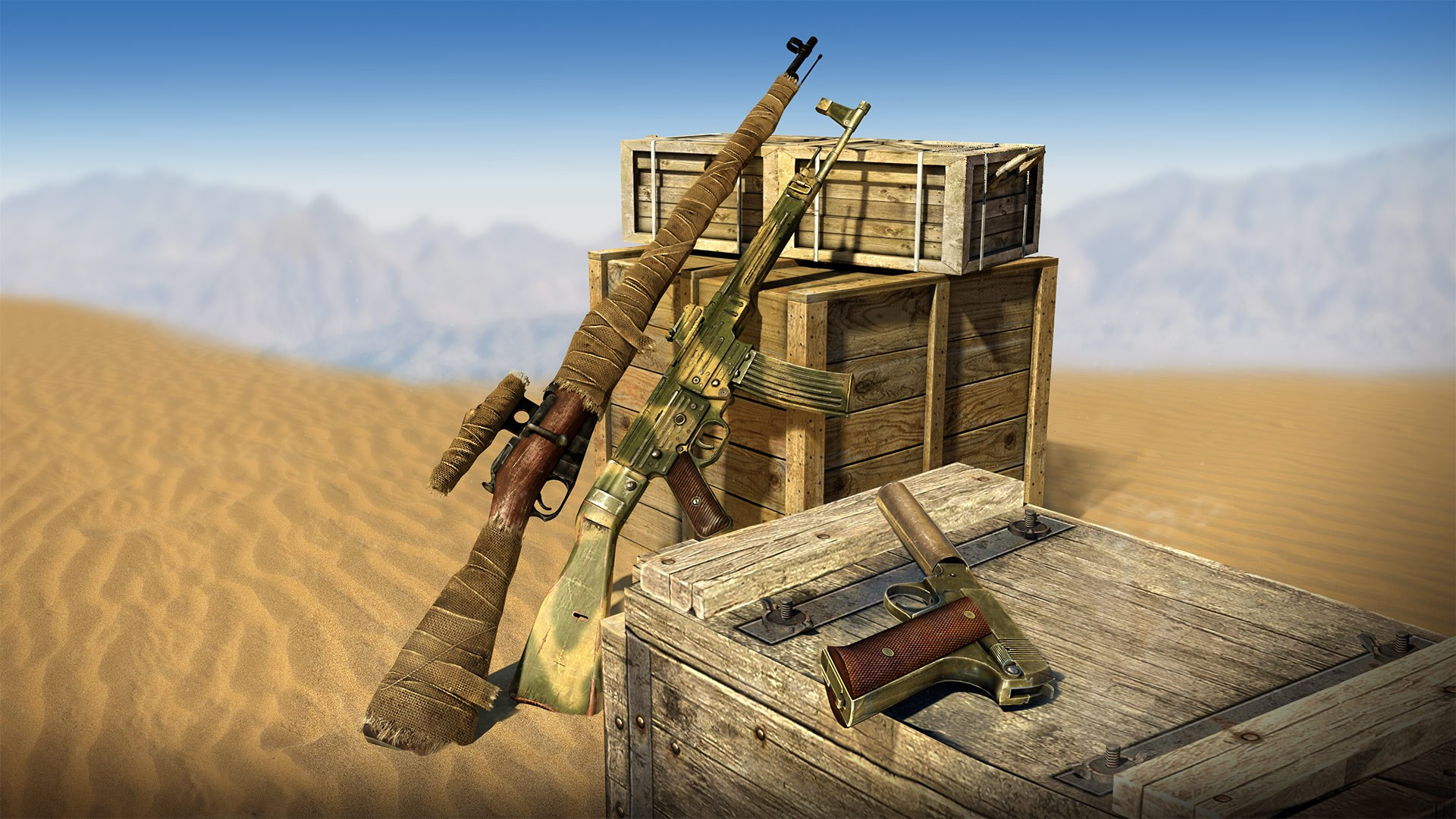 Camouflage Weapons Pack -lisäosa