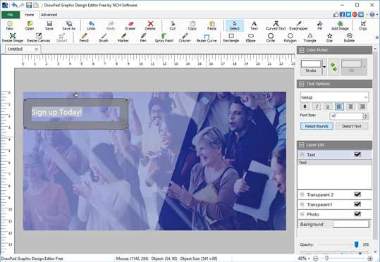 DrawPad Graphic Design Editor Free screenshot 5