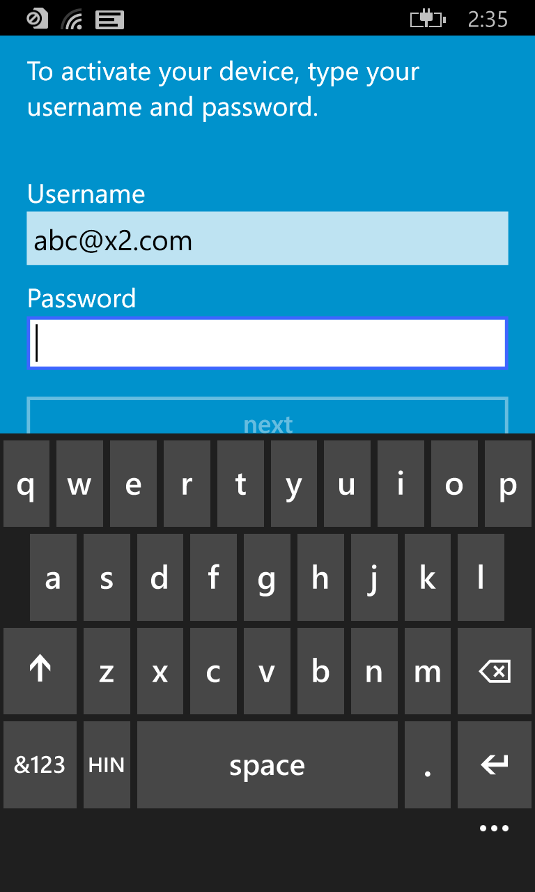BlackBerry UEM Client for Windows 10 Mobile