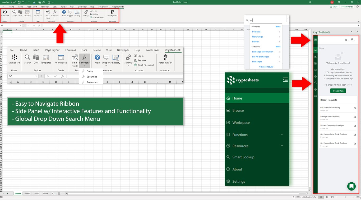 how to put live cryptocurrency data into excel
