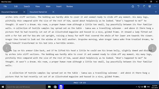 Word Files Editor screenshot 2