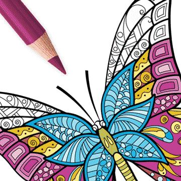 Kleurplaten Volwassenen Ingekleurd.Kleurplaten Vlinders Kleurboek Voor Volwassenen Kopen Microsoft