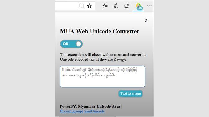 Get MUA Web Unicode Converter - Microsoft Store