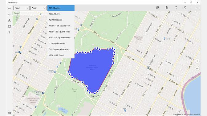 Geo Measure: Map Area / Distance Measurement