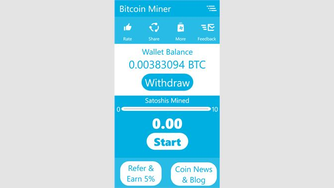 mineral bitcoins windows phone