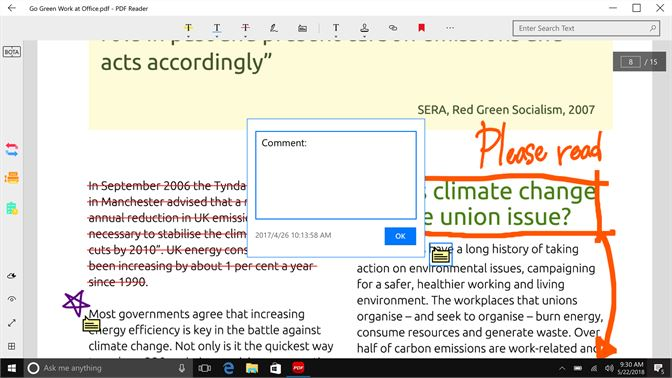 Get pdf reader view edit share microsoft store screenshot add comment to the texts where you wish fandeluxe Image collections