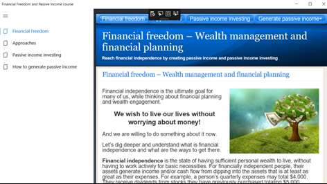 Financial Freedom and Passive Income course Screenshots 1