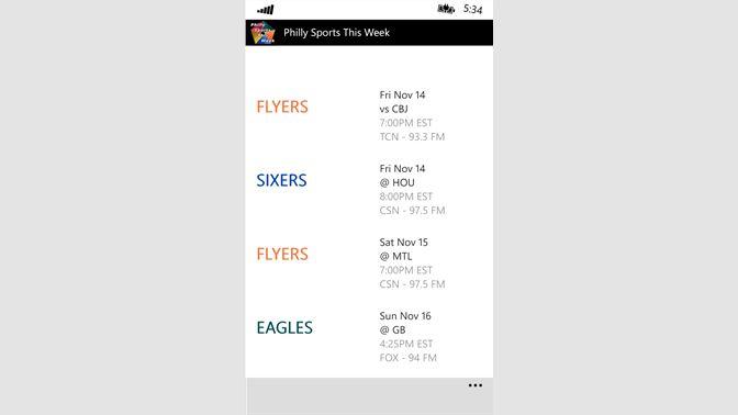 Get Philly Sports This Week - Microsoft Store en-SC