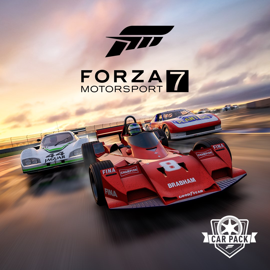 March Forza Motorsport 7 Car Pack, featuring a 1977 Brabham #8 Motor Racing Developments BT45B