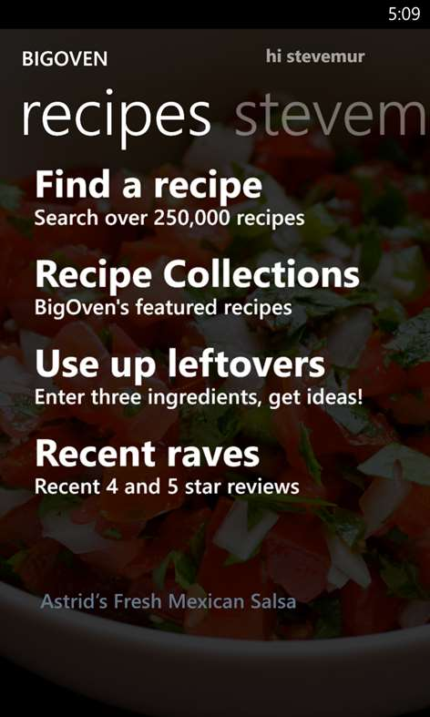 BigOven 300,000+ Recipes and Grocery List Screenshots 1