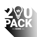 Clipart Icons: Black and White Icon Bundle Logo