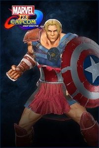 Carátula del juego Marvel vs. Capcom: Infinite- Captain America Gladiator Costume