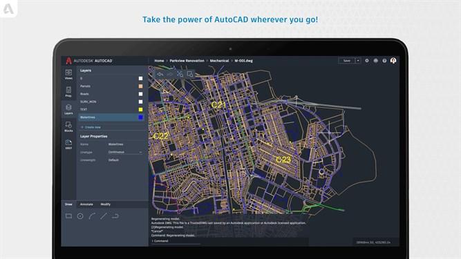 AutoCAD Mobile screenshot