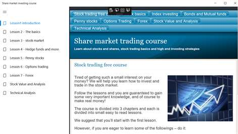 Share market investing course Screenshots 1