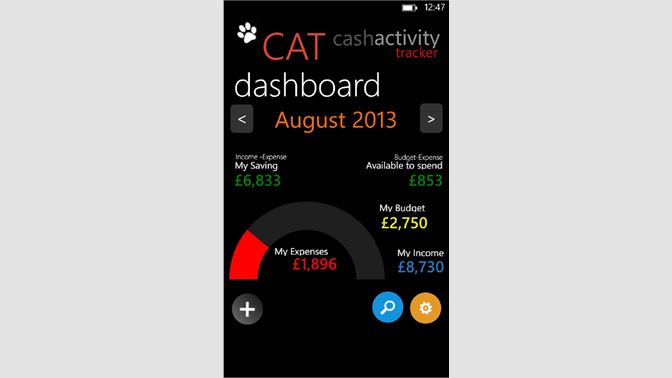 get cash activity tracker microsoft store