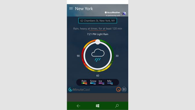 accuweather minutecast app