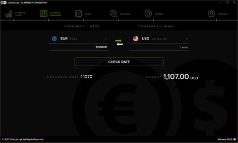 Cinkciarz.pl Currency Exchange Screenshots 2