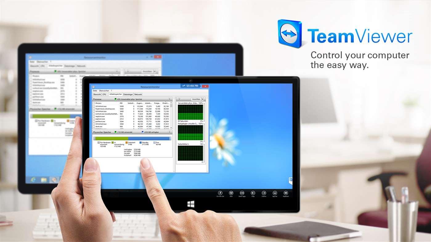 TeamViewer Touch full screenshot