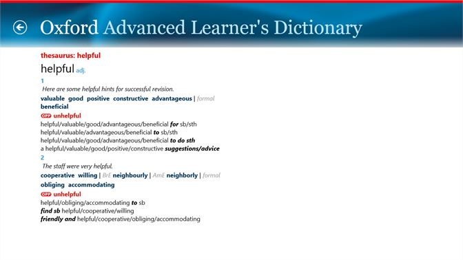 Buy Oxford Advanced Learner's Dictionary, 8th edition - Microsoft Store  en-CA