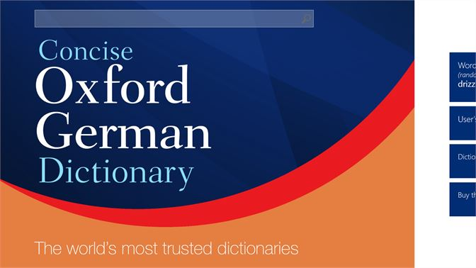 Buy Concise Oxford Duden German Dictionary - Microsoft Store