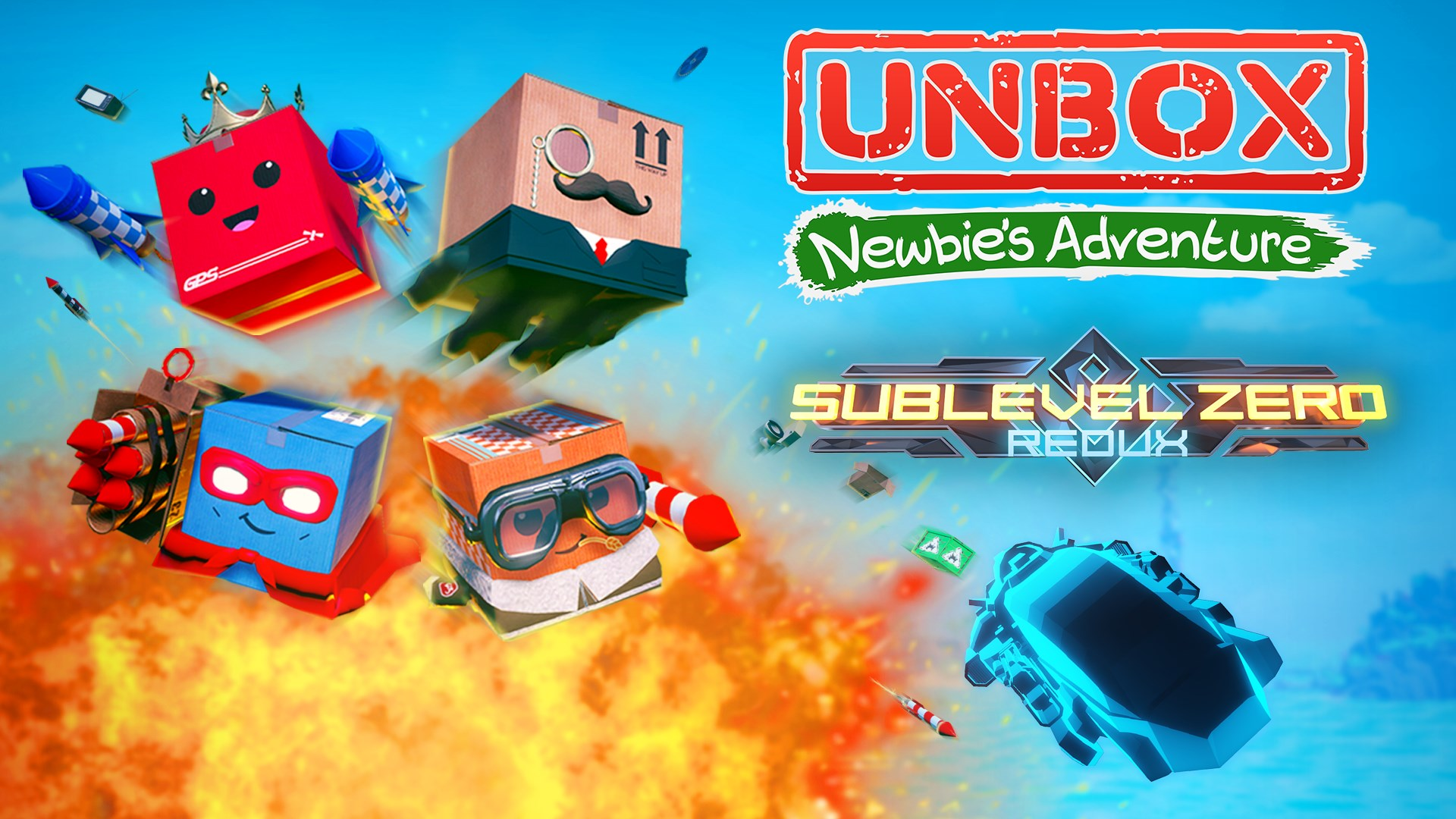 BUNDLE - Unbox: Newbie's Adventure and Sublevel Zero: Redux