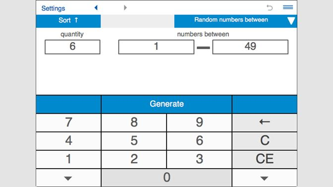 random number generator for 1 to 6