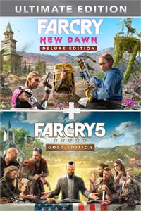 Carátula para el juego Far Cry 5 Gold Edition + Far Cry  New Dawn Deluxe Edition Bundle de Xbox 360