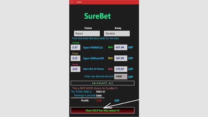 Get SureBet - Microsoft Store en-ZA