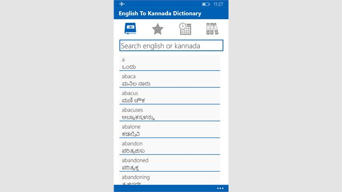 Get English To Kannada Dictionary - Microsoft Store