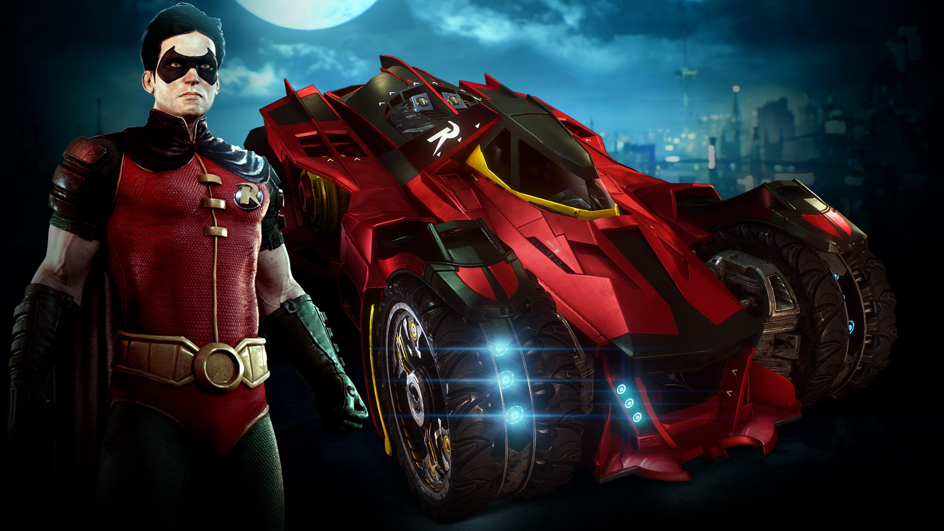 Robin and Batmobile Skins Pack