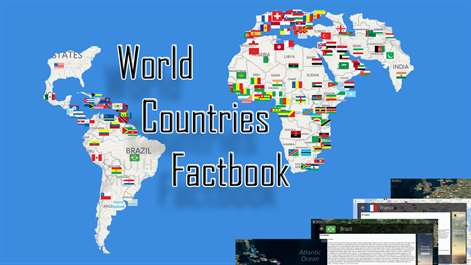 Get world countries factbook microsoft store screenshot locate countries in the interactive world map and see their flag and comprehensive facts gumiabroncs Gallery