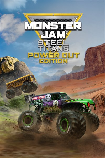 Monster Jam Steel Titans Power Out Bundle