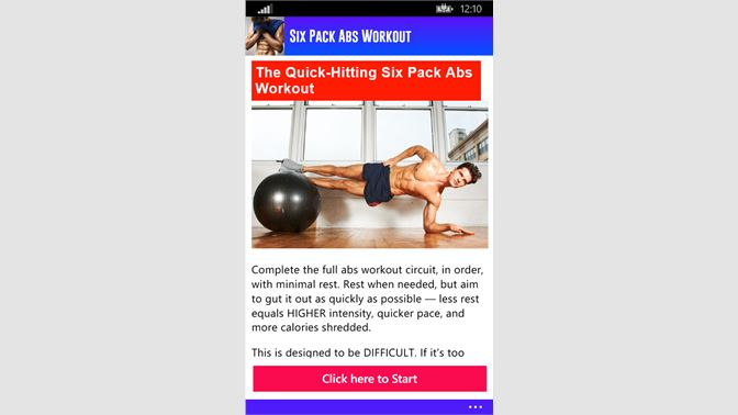 Get Six Pack Abs Workout