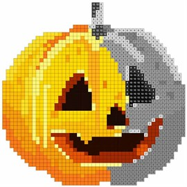 halloween sandbox number coloring book pages color by number を