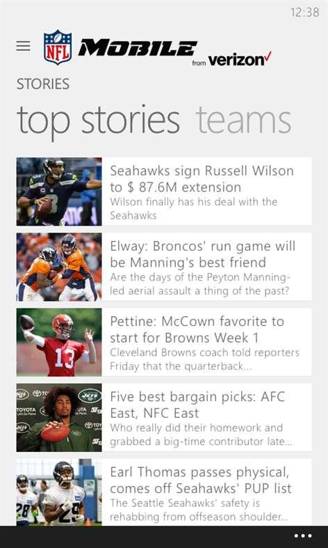 NFL Mobile Screenshots 2