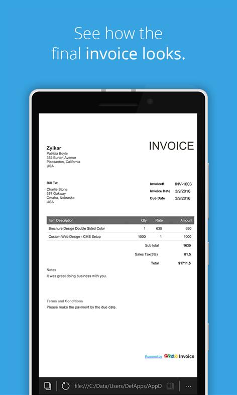 Online Invoice Pertaminico Free Invoice Templates Online Invoices - Free online invoice generator