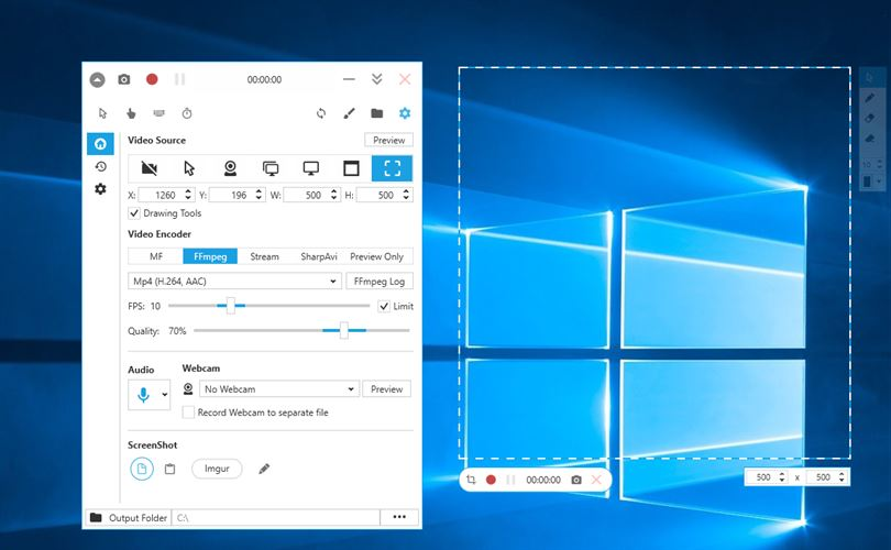 Screen Recorder Pro For Win10 Screenshot