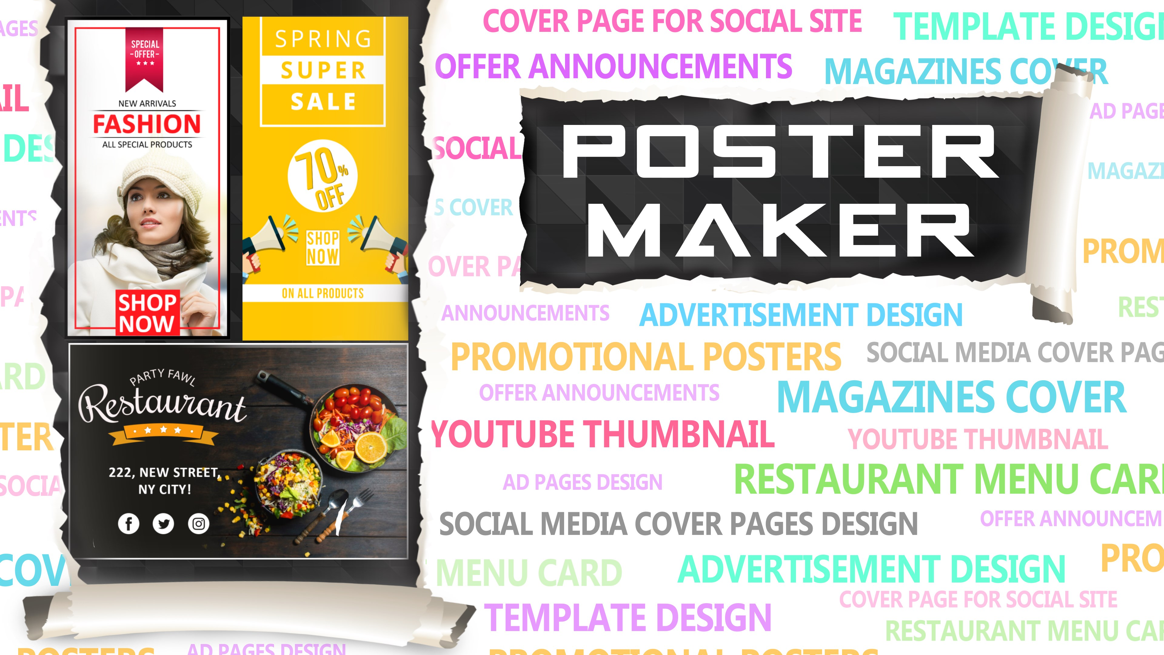 Get Poster Maker Thumbnail Cover Flyer Ad Page Designer Microsoft Store